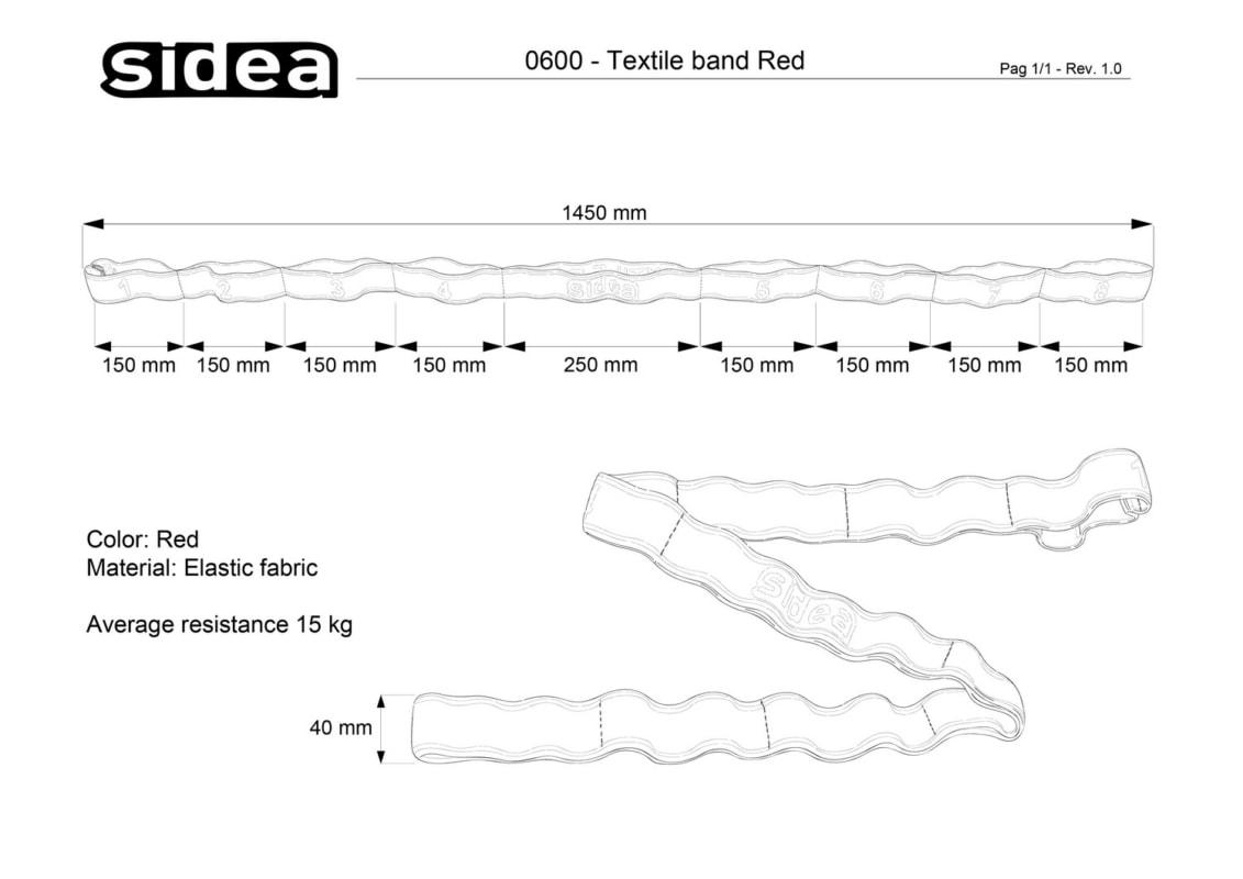 0600 Textile band Grey