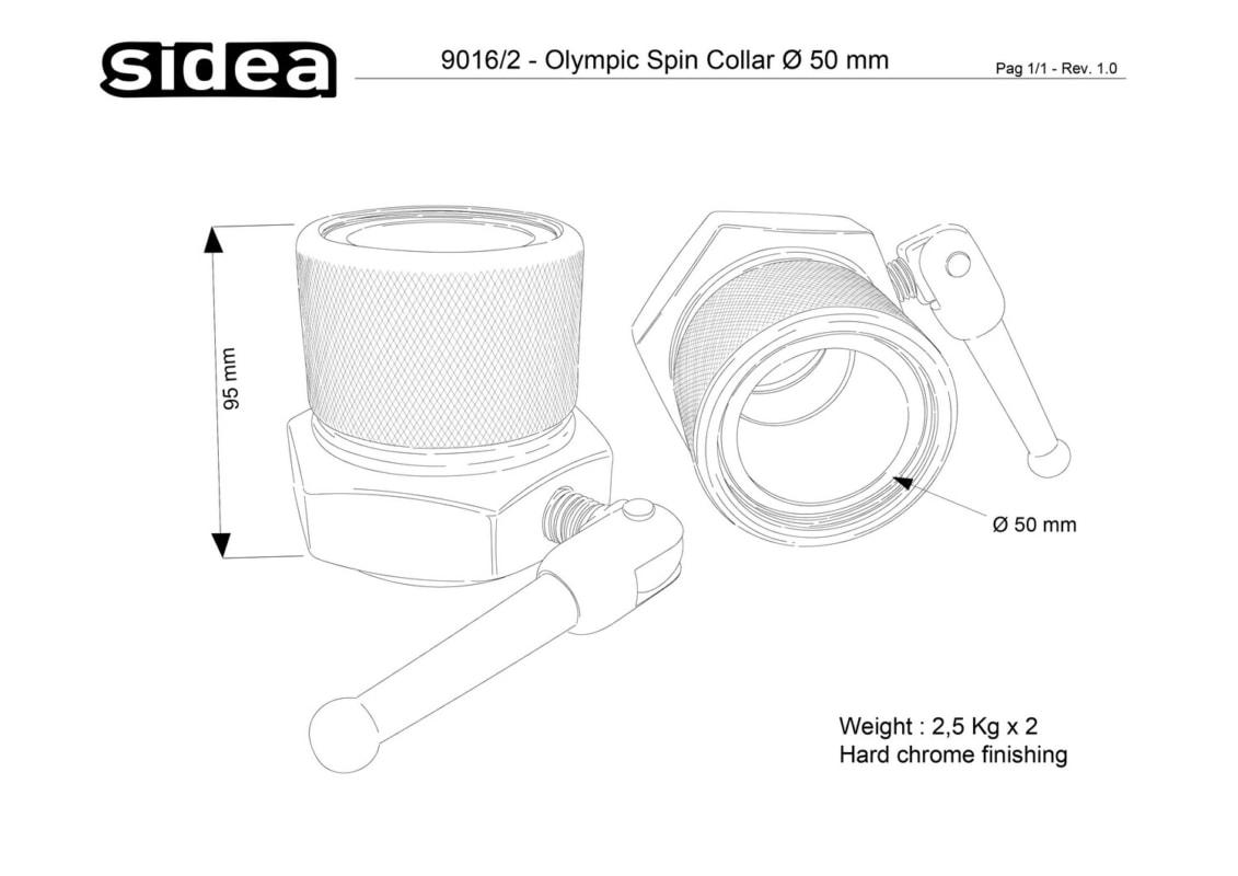 9016/2 Olympic Spin Collar Ø 50 mm