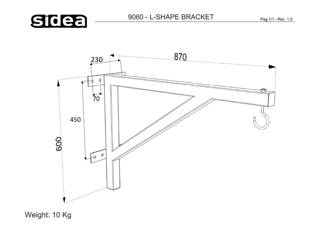 9060 - L-Shape Bracket