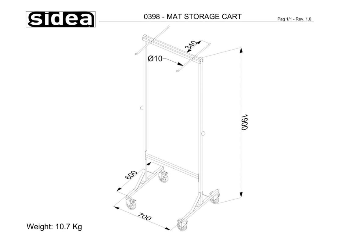 0398 - Mat Storage Cart-1