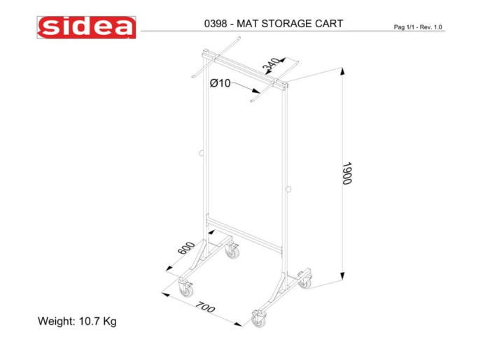 0398 Mat Storage Rack