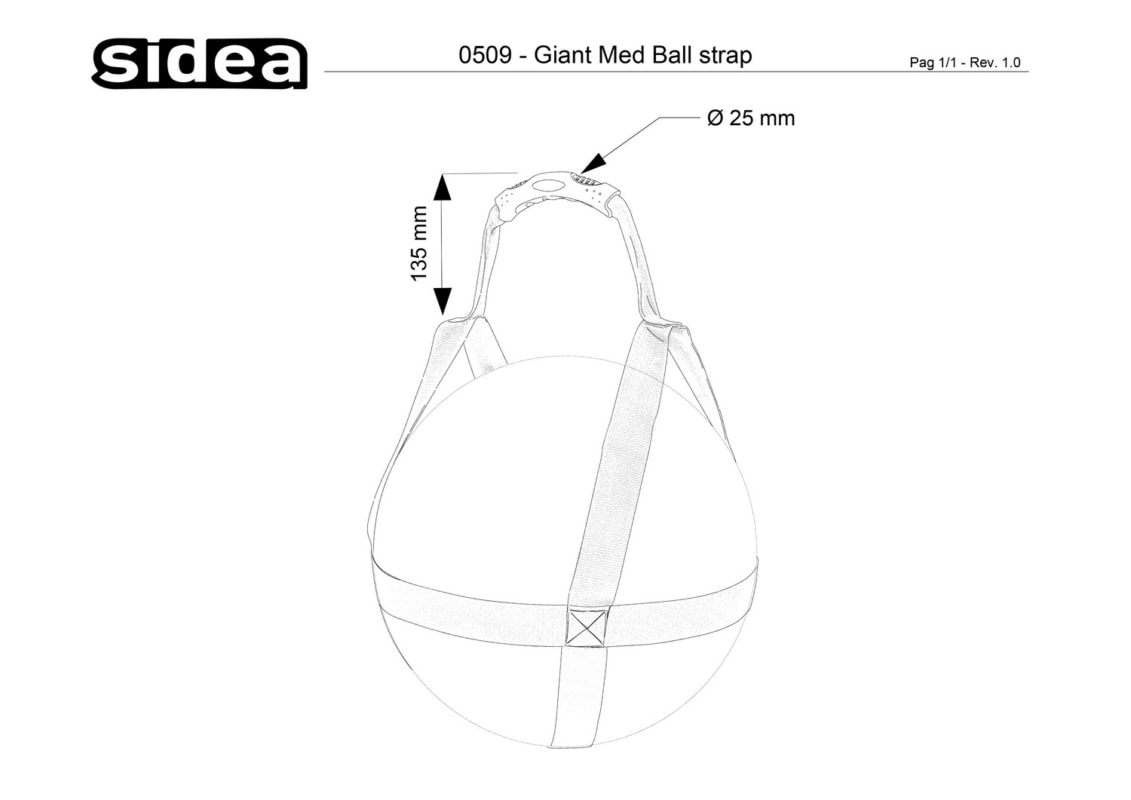 0509 Giant Med Ball Strap