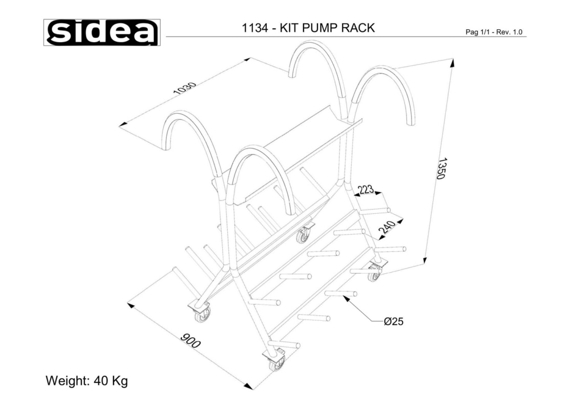 1134 - Kit Pump Rack
