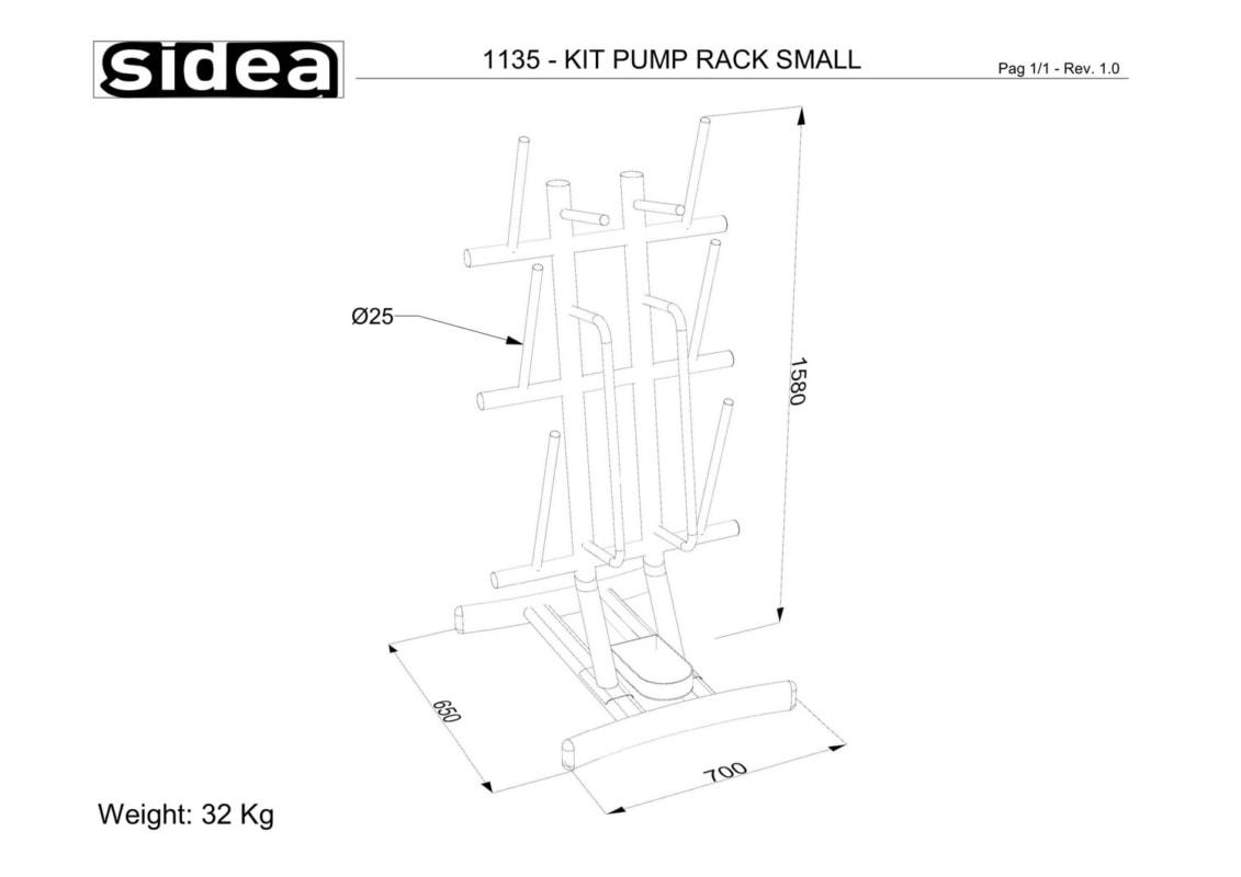 1135 - Kit Pump Rack Small