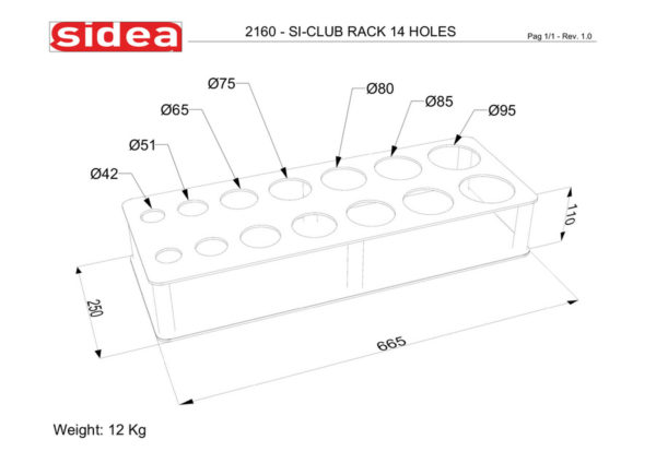 2160 - Si-Club Rack 14 Holes