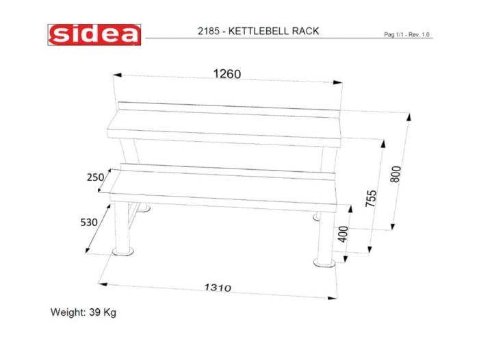 2185 Kettlebell Rack