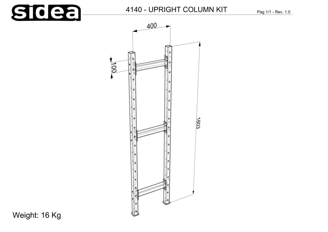 4140 Upright Column Kit
