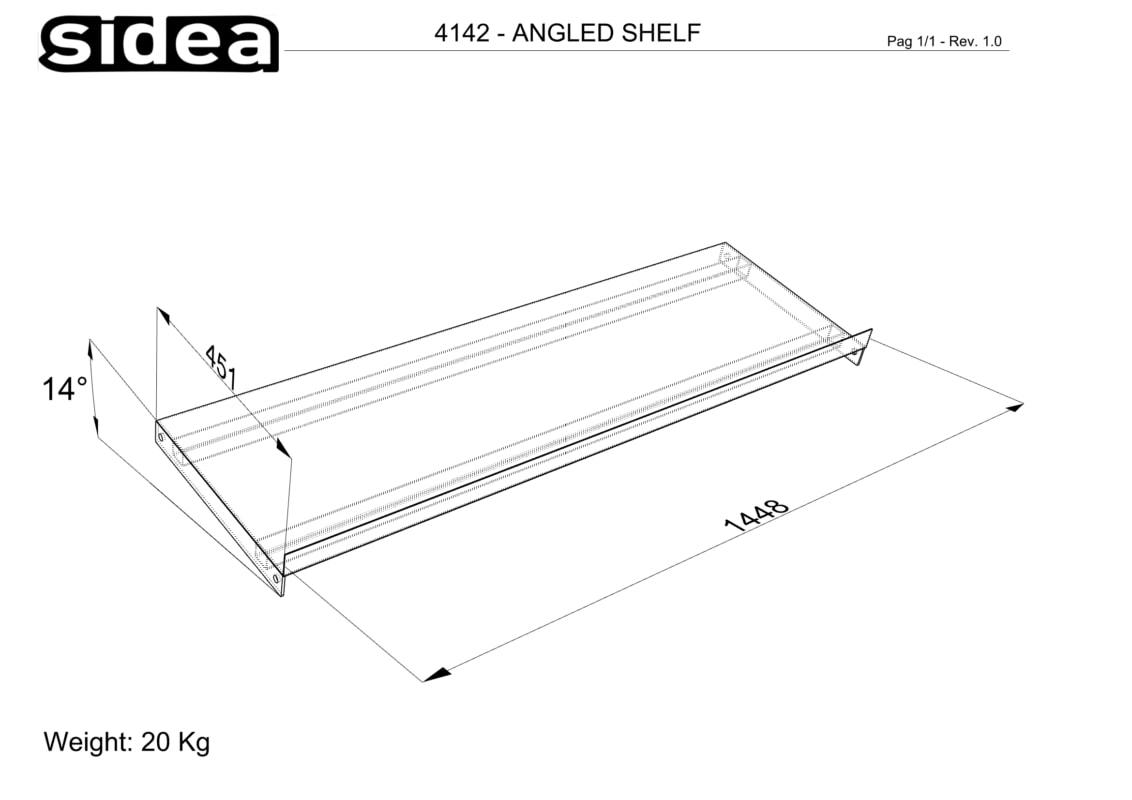 4142 Angled Shelf