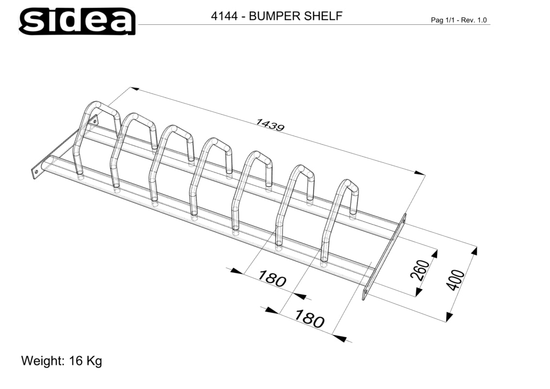 4144 Bumpers Shelf