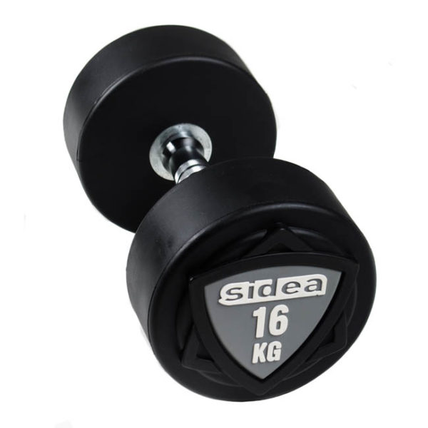 8804-8850 Black Rubber Dumbbells
