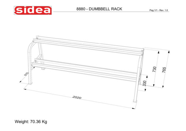 8880 - Dumbbell Rack