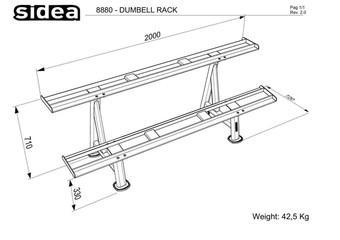 8880 - Dumbell Rack