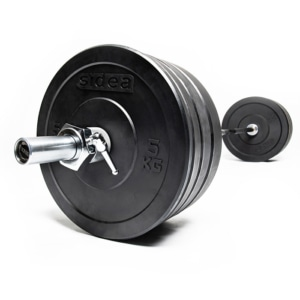 black-rubber-bumper-plate-kg-piastra-disco-peso-bilanciere-foro-50-mm-diametro-gomma-gommato-dischi-gommati-Bumper-Kit-100-Kg