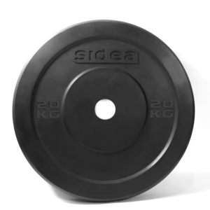 Black rubber bumper plate without ring