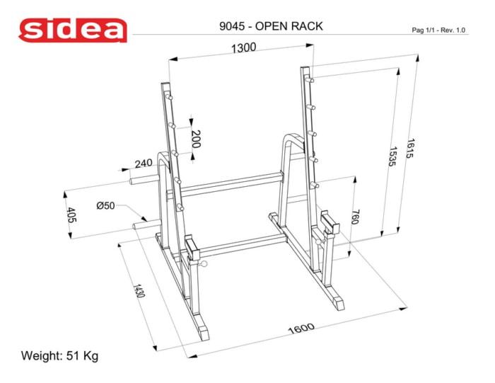 9045 Open rack