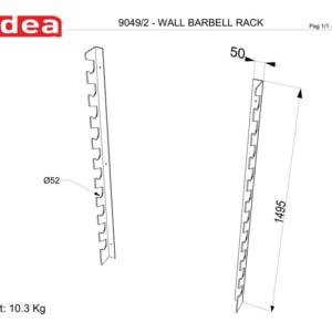 9049/2 Wall Barbell Rack