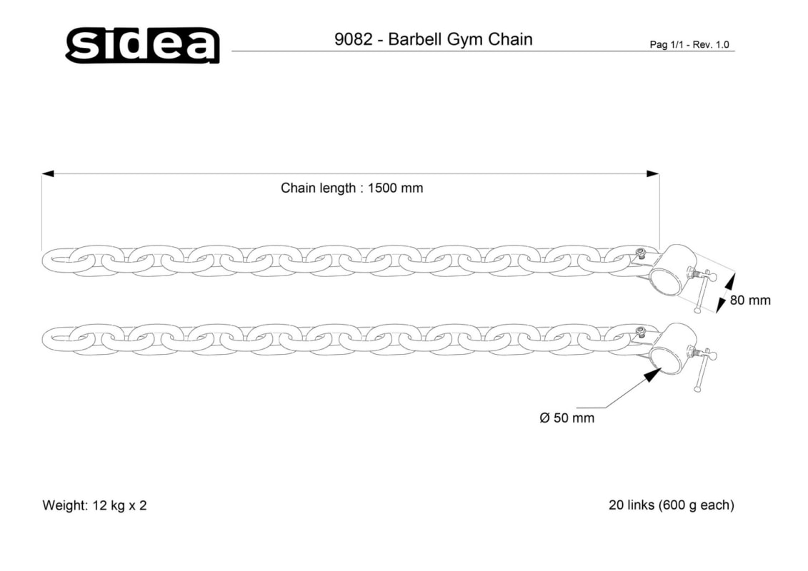 9082 Barbell Gym Chain