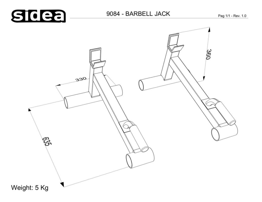 9084 - Barbell Jack