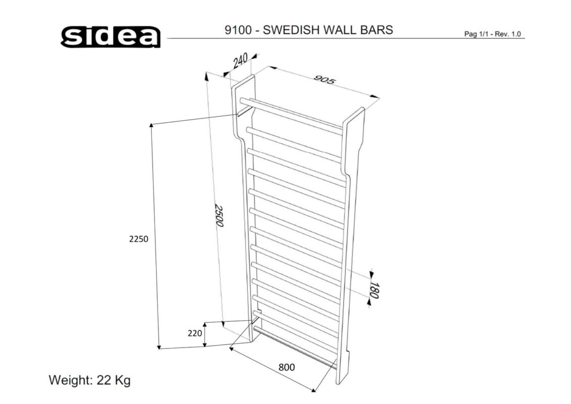 9100 - Swedish Wall Bars