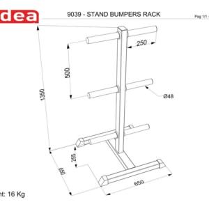 9039 Standing Bumper Rack