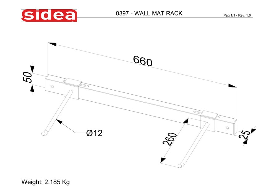 0397 Wall Mat Rack