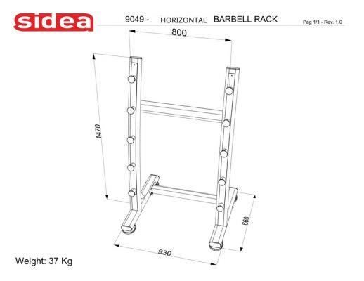 9049 Horizontal Barbell Rack