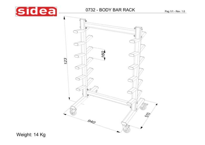 0732 Bar Rack
