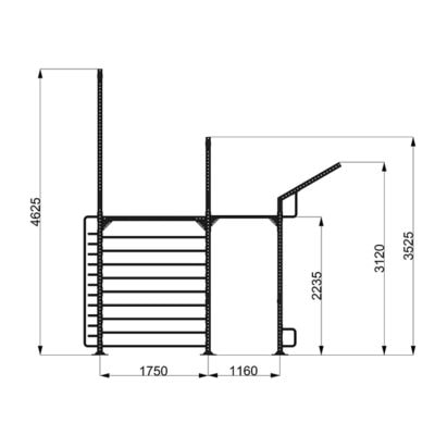9090/2 Calisthenics Rack - Struttura Model-2