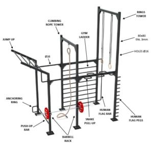 9090-2 calisthenics rack