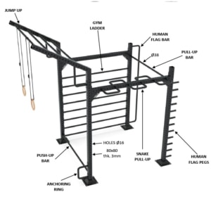 9090-4 calisthenics rack