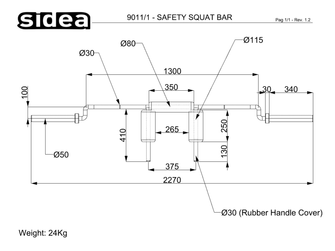 9011_1 - Quote safety squat barbell
