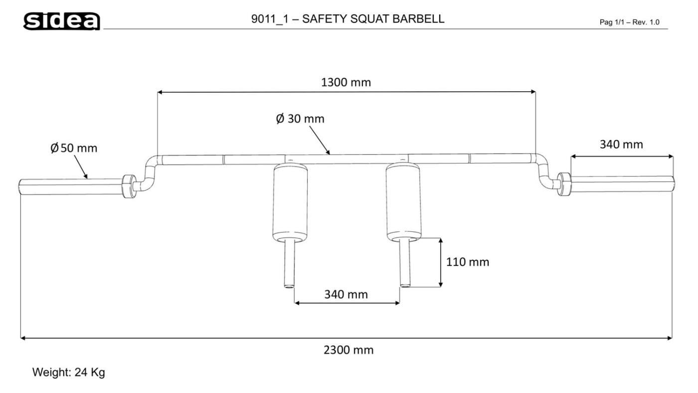 9011_1 - Safety Squat Barbell
