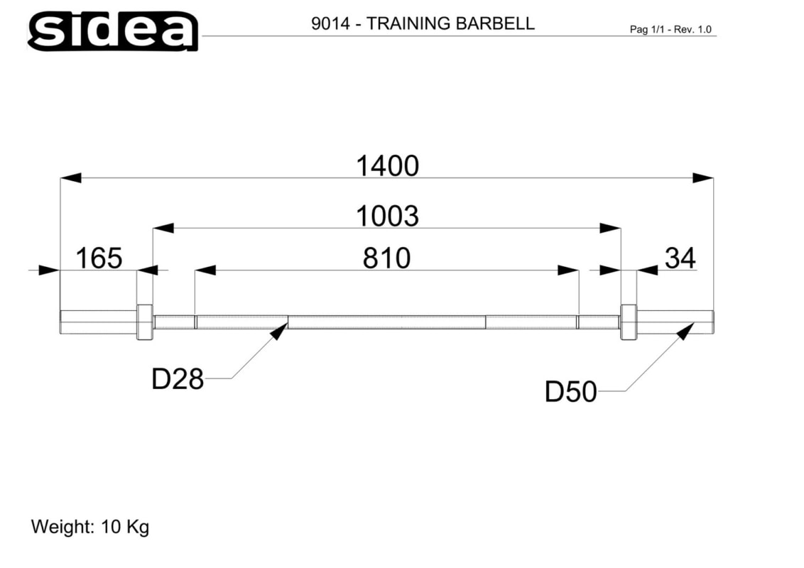 9014 Training Barbell 140 - Quote
