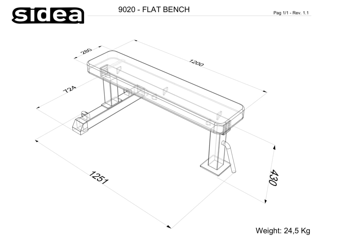 9020 flat bench