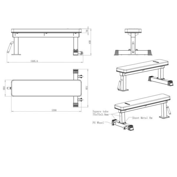9020-flat-bench-misure