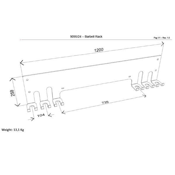 9095_24 Barbell rack