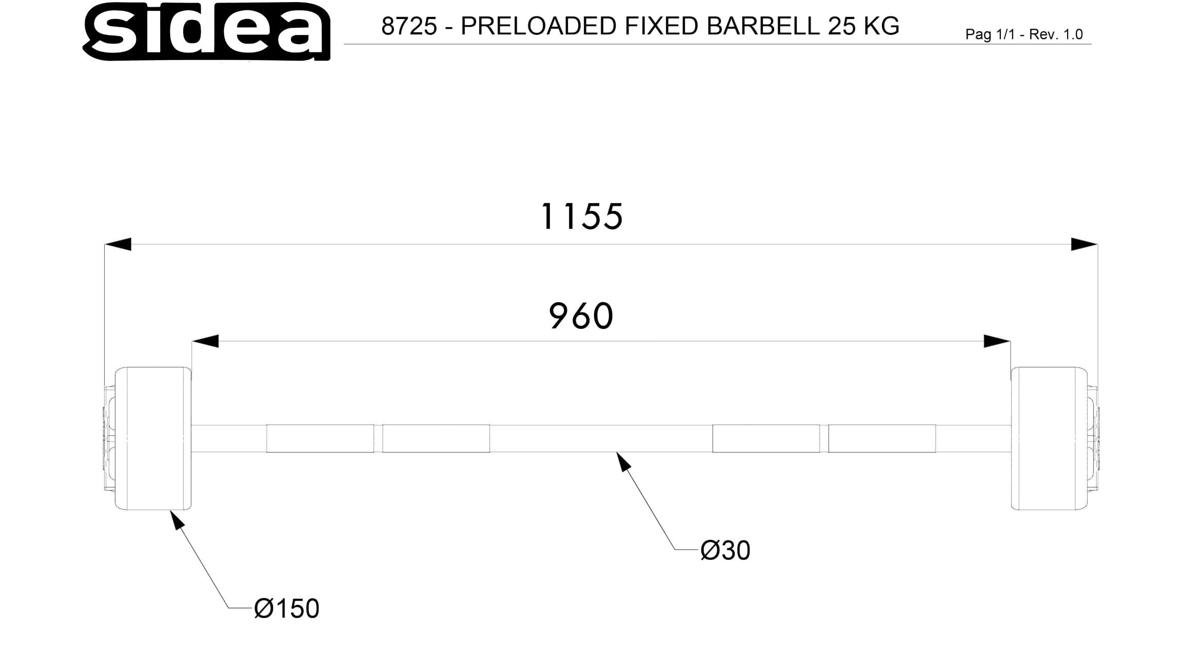 8710-8745 Bilancieri precaricati - Fixed Barbells