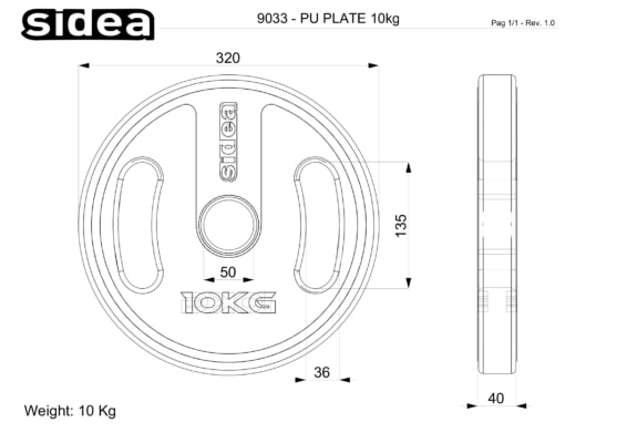 9030-9036 PU Plate - Piastra in PU con prese