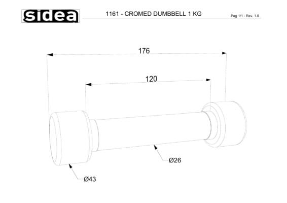 1161-1170 Manubri cromati