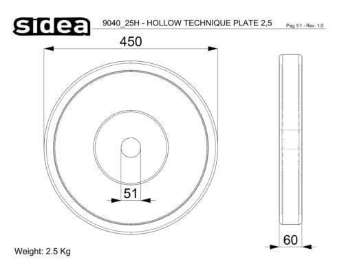 9040/25h-9040/50h Technique Hollow Plates