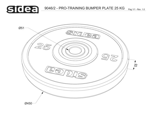 9040/2 9046/2 Pro-Training Bumper Plate
