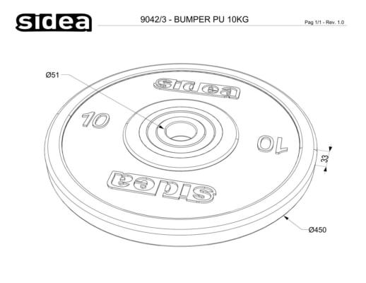 9040/3-9046/3 Pu Bumper Plate