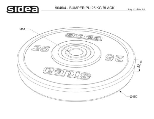 9040/4 PU Bumper Plate