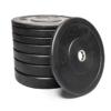 Black-Rubber-Bumper-Kit-100-Kg-set-dischi-piastre-bilanciere-gomma-nera-sidea-crossfit-barbell-weightlifting-powerlifting
