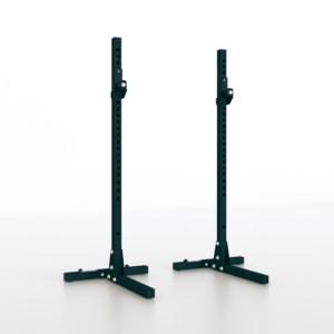 Olympic-Bar-Support-Pro-supporto-bilanciere-rack-porta-bilanciere-squat-panca-sollevamento-pesi-allenamento-home-gym-sidea
