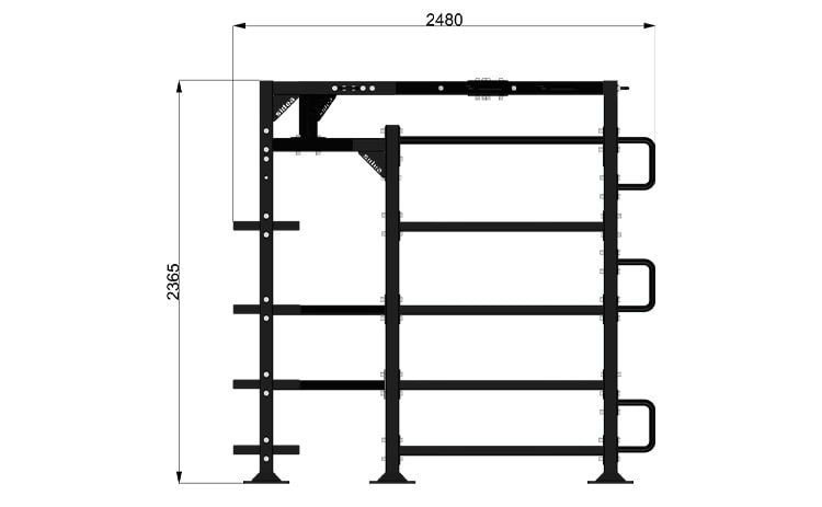 9093/1 Functional Rack Modello 3