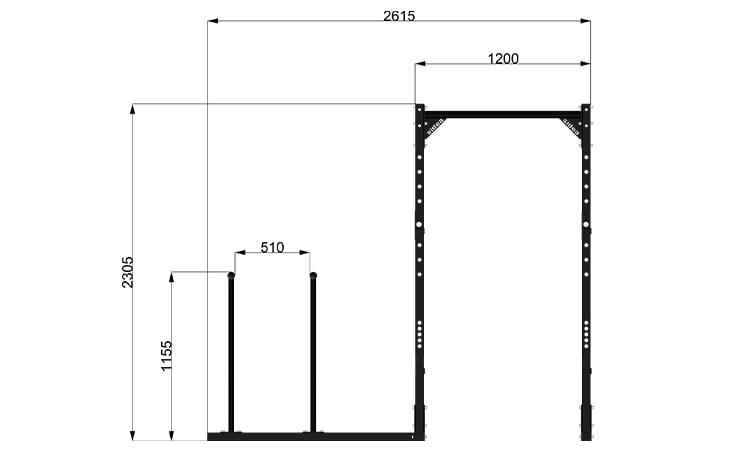 9095M1 Rack Station Modello Parallel