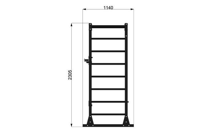 9095M3 Rack Station Modello Wall Bar