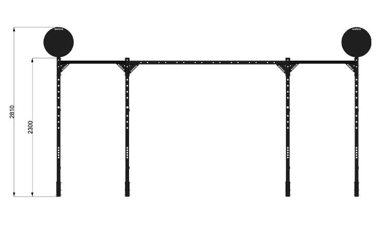 9095M7 Rack Station Modello 2600 H. Ladder Pro