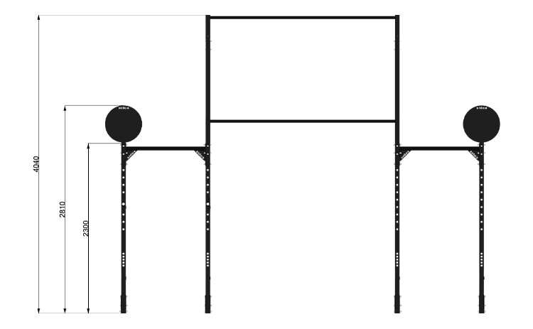 9095M8 Rack Station Modello Double Bar